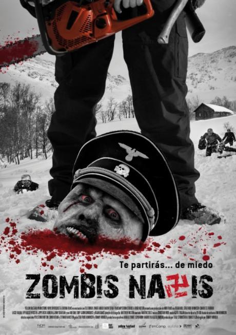 Poster cartel español zombis nazis dead snow