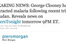 ¿Tiene George Clooney malaria?