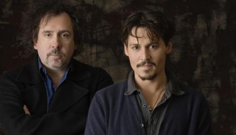 tim burton y Johnny Depp dark shadows