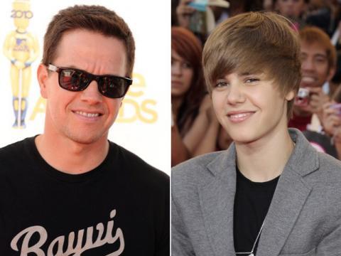 Mark Wahlberg y Justin Bieber