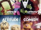 Cuatro póster de personajes de The Muppets