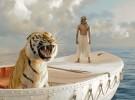 Primer Vistazo a La vida de Pi de Ang Lee, Suraj Sharma y un tigre