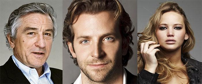 Bradley Cooper Robert De Niro Jennifer Lawrence