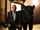 """THE JUNGLE BOOK - Bagheera is a sleek panther who feels it's his duty to help the man-cub depart with dignity when it's time for him to leave his jungle home. """"Bagheera is Mowgli's adoptive parent,"""" says Ben Kingsley, who lends his voice to Bagheera. """"His role in Mowgli's life is to educate, to protect and to guide. My Bagheera was military—he's probably a colonel. He is instantly recognizable by the way he talks, how he acts and what his ethical code is.""""Photo by: Sarah Dunn. ©2016 Disney Enterprises, Inc. All Rights Reserved."""