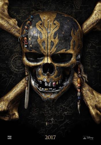 Piratas del Caribe la venganza de Salazar póster cartel