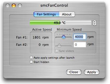 smcFanControl, imprescindible para portátiles