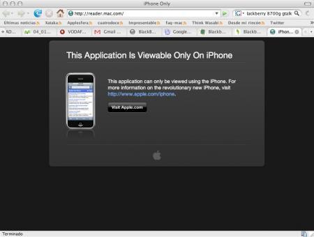 iPhone Reader: Lector secreto de Feed para el iPhone