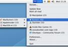 RSS  Menú: Los feed en la barra de herramientas