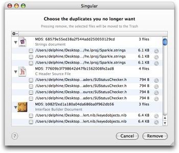 Singular: Busca archivos duplicados
