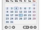 Un calendario en la barra de menú