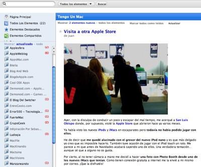 Google Reader Mac