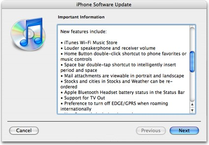 iphone itunes actualizacion