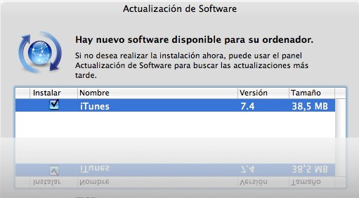 iTunes 7.4