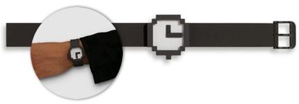 reloj apple pixelado
