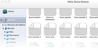 Nokia Media Transfer compatible con Leopard