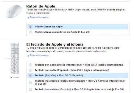 teclado y raton apple