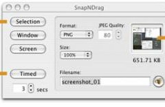 SnapNdrag: Capturador de Pantallas para Mac