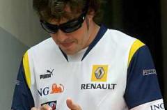 Alonso y su iPhone
