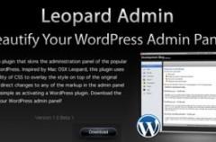 wordpress al estilo a Mac OSX Leopard