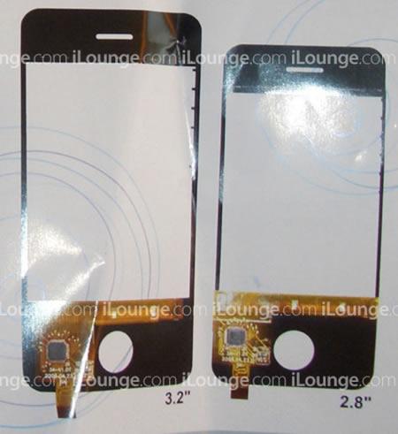 ¿Nuevos tamaños de pantalla táctil para el iPhone?