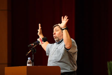 Discurso de Steve Wozniak  mañana en Madrid