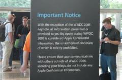 Reporteros que cubrían la WWDC fueron obligados a ir al baño con escolta