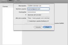 CalDAV: sincronización entre Google Calendar e iCal