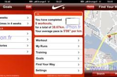 Imagen de la posible nueva aplicación de Niké par el iPhone y iPod Touch