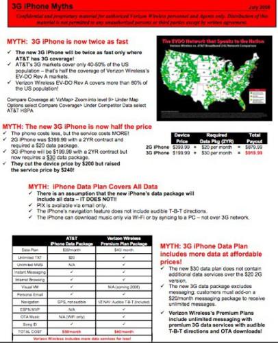 Publicidad anti-iPhone difundida por Verizon entre sus empleados