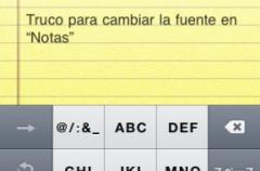 Cambia la fuente en las notas de tu iPhone o iPod Touch