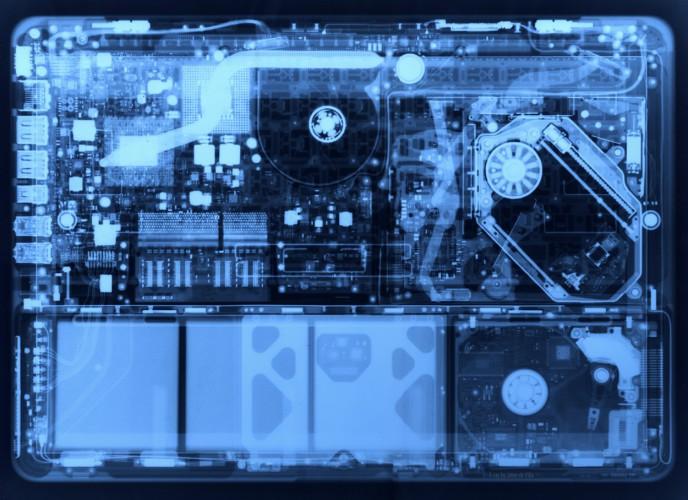 Nuevo MacBook a través de rayos X
