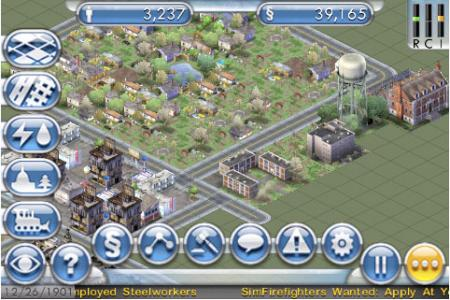 Preview SimCity para iPhone