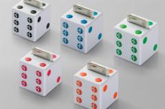 Buffalo presenta unos altavoces para iPod con forma de dado