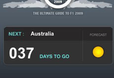 Aplicación para seguir el campeonato del mundo de F1 para el iPhone e iPod Touch