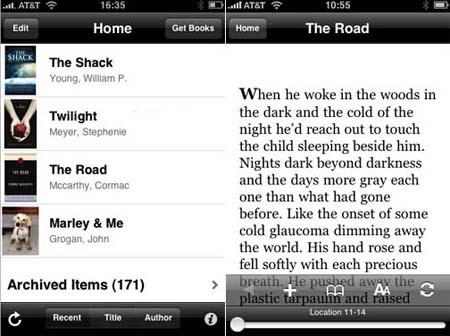 Kindle 2 para el iPhone