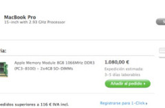 Apple comienza a vender packs de 8GB de RAM para el MacBook Pro de 15 pulgadas