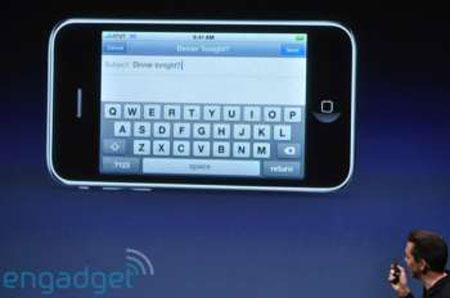 Teclado QWERTY en el iPhone