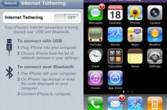 El iPhone OS 3.0 sí incluye tethering