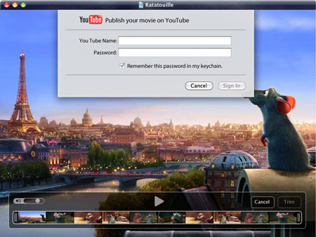 QuickTime X Youtube
