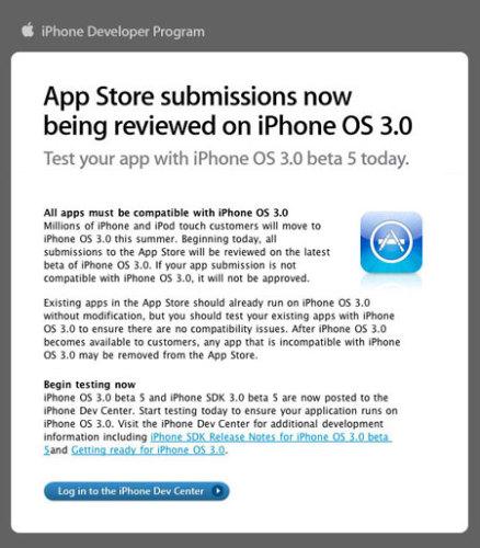 Apple se empieza a preparar para el lanzamiento del OS 3.0 para el iPhone e iPod Touch