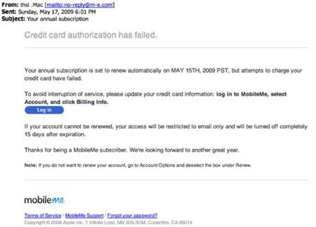 MobileMe en el foco del phishing