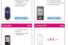 iPhone de 32GB filtrado en la web de T-Mobile
