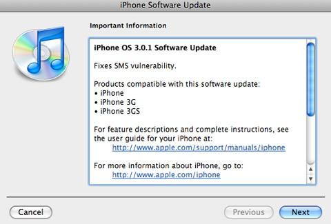 actualizacion_iphone-3.0.1_seguridad_sms
