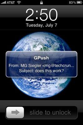 Notificaciones Push de Gmail