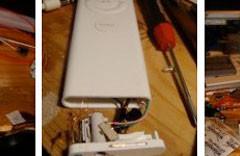 Montan un iPod Shuffle dentro de un Apple Remote
