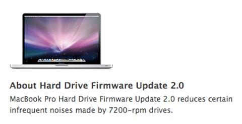 Fimware Disco Duro MacBook Pro 2.0