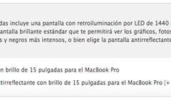 Vuelven las pantallas mate a los MacBook de 15 pulgadas