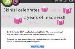 20 por ciento de descuento en Skinizi