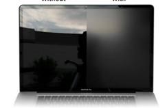 Láminas para convertir las pantallas brillantes en mate