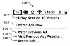 Apple pantenta un sistema para llevar publicidad a sus ordenadores